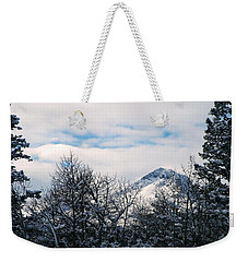 Dancing Woman Mountain In The Winter Weekender Tote Bag