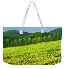 Weekender Tote Bag featuring the painting Dandelion Bloom by Frank Wilson