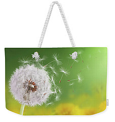 Dandelion Flying Weekender Tote Bag