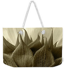 Weekender Tote Bag featuring the photograph Dandelion In Sepia by Micah May