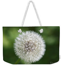 Weekender Tote Bag featuring the photograph Dandelion - Poof by Susan Dimitrakopoulos