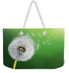 Weekender Tote Bag featuring the photograph Dandelion Seed by Bess Hamiti