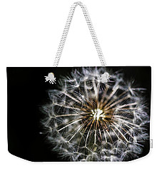 Weekender Tote Bag featuring the photograph Dandelion Seed by Darcy Michaelchuk