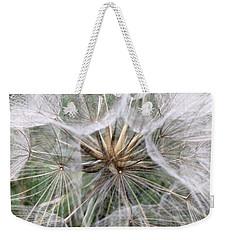 Dandelion Seed Head  Weekender Tote Bag by Kathy Spall