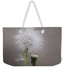 Weekender Tote Bag featuring the photograph Dandelion Seed Head by Rona Black