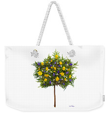Weekender Tote Bag featuring the photograph Dandelion Violet Tree by Lise Winne