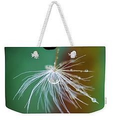 Dandelion Water Drop Macro 2 Weekender Tote Bag