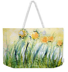 Dandelions On The Grass Weekender Tote Bag
