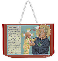 Weekender Tote Bag featuring the painting Holy Prophet Daniel Berrigan 291  by William Hart McNichols
