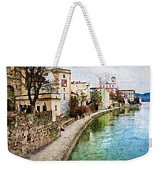 Danube River At Passau, Germany Weekender Tote Bag