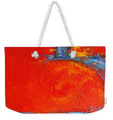 Dare -  Modern Abstract Oil Painting Palette Knife Weekender Tote Bag