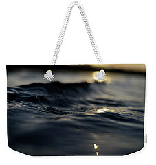 Weekender Tote Bag featuring the photograph Dark Atlantic Traces by Laura Fasulo