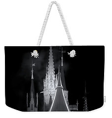 Weekender Tote Bag featuring the photograph Dark Castle by Mark Andrew Thomas