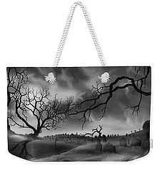 Weekender Tote Bag featuring the painting Dark Cemetary by James Christopher Hill
