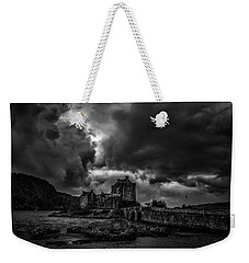 Weekender Tote Bag featuring the photograph Dark Clouds Bw #h2 by Leif Sohlman