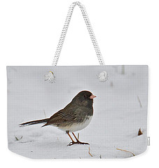 Weekender Tote Bag featuring the photograph Dark-eyed Junco 1217 by Michael Peychich
