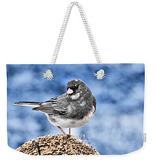 Weekender Tote Bag featuring the photograph Dark-eyed Junco by Debbie Stahre