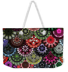 Dark Flower Weekender Tote Bag