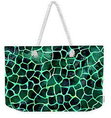 Dark Green Giraffe Print Weekender Tote Bag