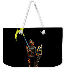 Weekender Tote Bag featuring the photograph Dark Guard by Mark Blauhoefer