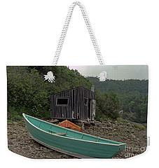 Dark Harbour Fisherman Shack And Boat Weekender Tote Bag