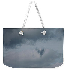 Weekender Tote Bag featuring the photograph Dark Heart Cloud by Cathie Douglas
