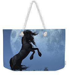 Dark Horse And Full Moon Weekender Tote Bag by Daniel Eskridge