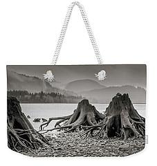 Dark Lake Weekender Tote Bag by Marius Sipa