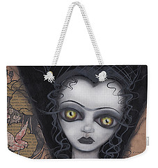 Dark Lily Weekender Tote Bag by Abril Andrade Griffith