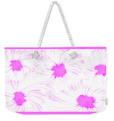 'dark Pink And White Flower Abstract' Weekender Tote Bag