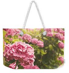 Dark Pink Hydrangea Weekender Tote Bag by Cindy Garber Iverson