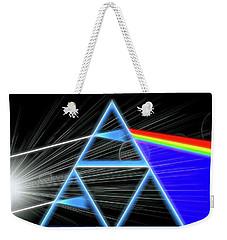 Weekender Tote Bag featuring the digital art Dark Side Of The Moon by Dan Sproul