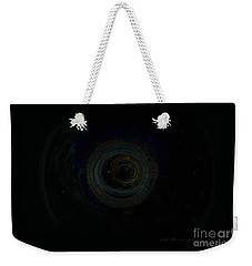 Weekender Tote Bag featuring the digital art Dark Spaces by Vicki Ferrari