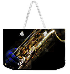 Dark Winter Sax Weekender Tote Bag