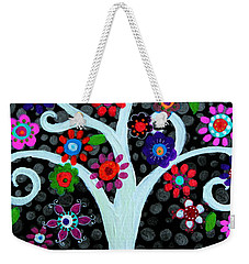 Weekender Tote Bag featuring the painting Darkness Of Light by Pristine Cartera Turkus