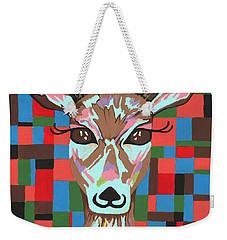 Weekender Tote Bag featuring the painting Darling Deer by Kathleen Sartoris
