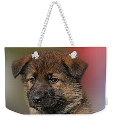 Weekender Tote Bag featuring the photograph Darling Puppy by Sandy Keeton