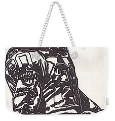 Weekender Tote Bag featuring the drawing Darren Mcfadden 1 by Jeremiah Colley