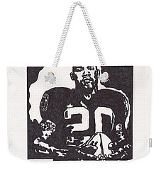 Weekender Tote Bag featuring the drawing Darren Mcfadden 2 by Jeremiah Colley