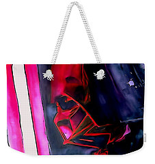 Weekender Tote Bag featuring the drawing Darth Vader Illustration Edition by Justin Moore