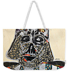 Weekender Tote Bag featuring the tapestry - textile Darth Vader Star Wars Afrofuturist Collection by Apanaki Temitayo M