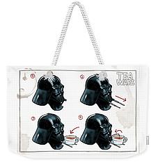 Darth Vader Tea Drinking Star Wars Weekender Tote Bag by Martin Davey