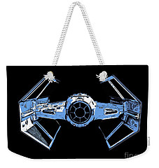 Darth Vaders Tie Figher Advanced X1 Tee Weekender Tote Bag by Edward Fielding