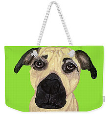 Weekender Tote Bag featuring the painting Date With Paint Sept 18 10 by Ania M Milo