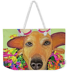 Weekender Tote Bag featuring the painting Date With Paint Sept 18 6 by Ania M Milo