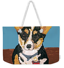 Weekender Tote Bag featuring the painting Date With Paint Sept 18 8 by Ania M Milo