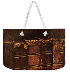 Weekender Tote Bag featuring the photograph Dated Textbooks by Jorgo Photography - Wall Art Gallery