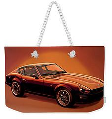 Datsun 240z 1970 Painting Weekender Tote Bag by Paul Meijering