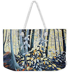 Weekender Tote Bag featuring the painting Natures Dance by Joanne Smoley