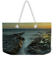 Davenport Landing Beach At Golden Hour Weekender Tote Bag
